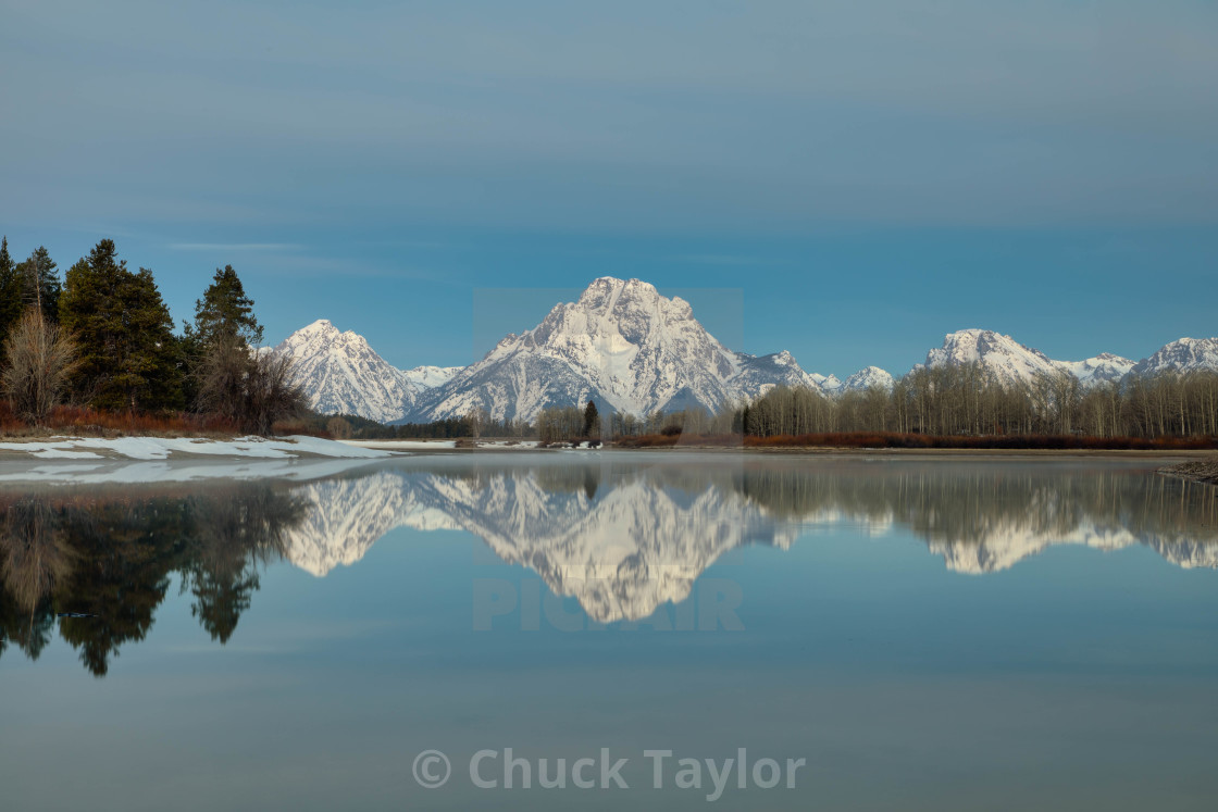 """travel-oxbow bend-grand teton national park-chuck taylor"" stock image"