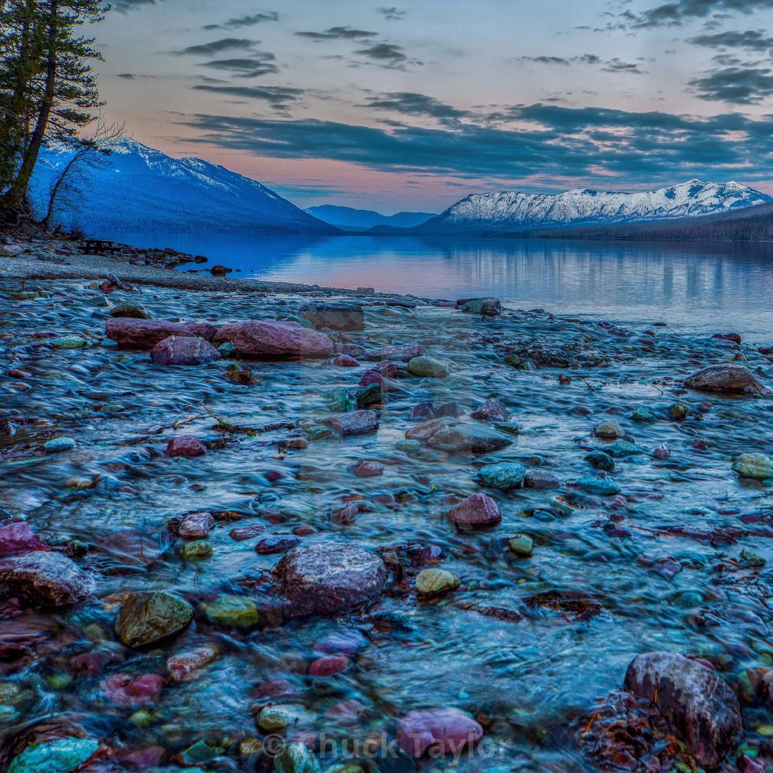 """glacier-national-park-travel-lake-mcdonald-vacation"" stock image"