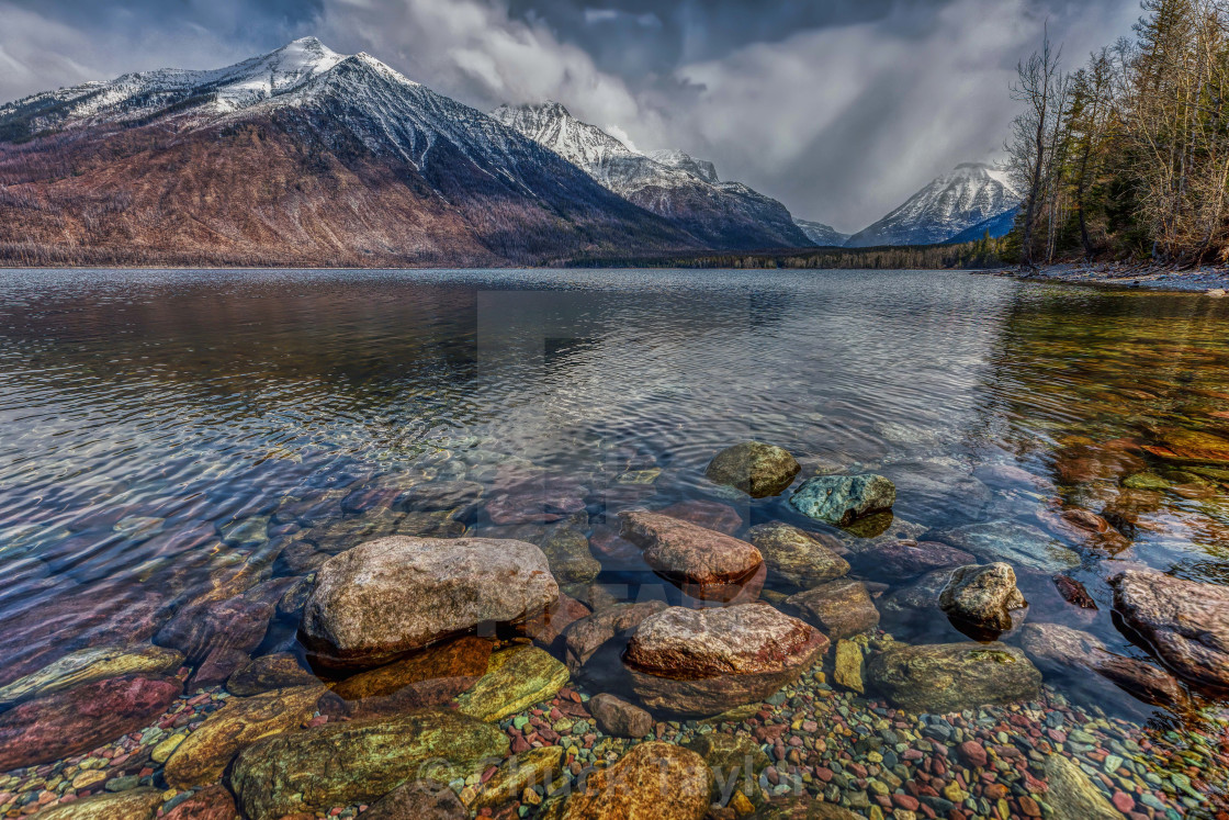 """travel-national-park-glacier-lake-mcdonald"" stock image"