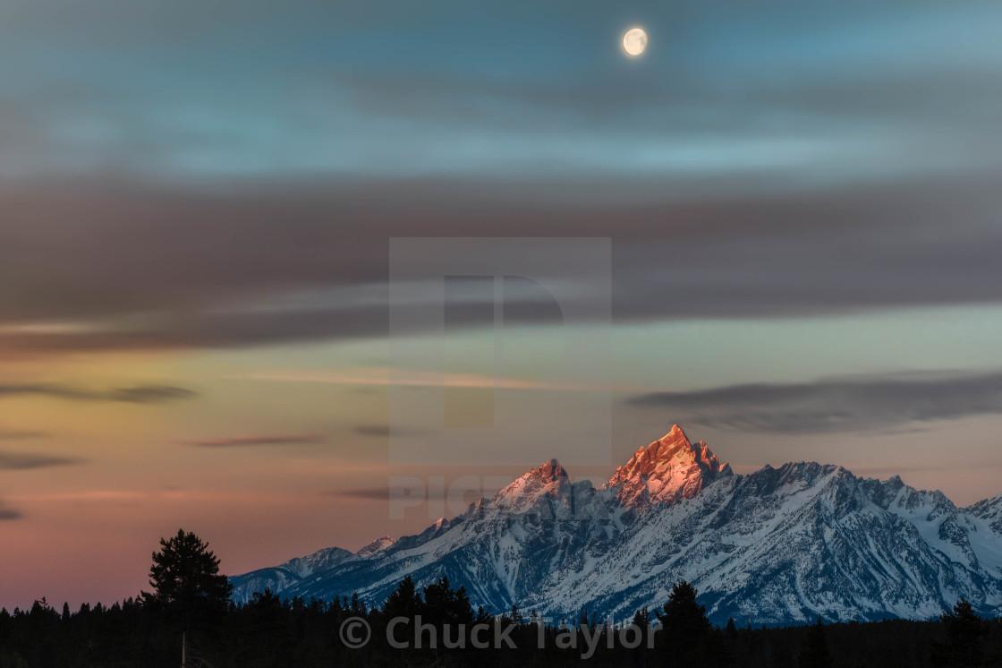 """vacation-grand teton national park-travel-sunrise-"" stock image"