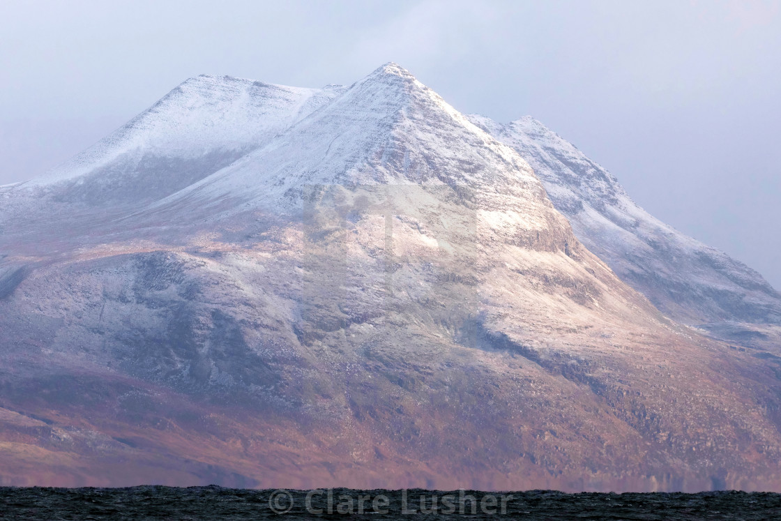 """""""Wester Ross Mountain Ranges"""" stock image"""