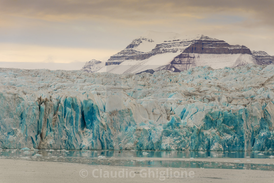 """""""Galcier's front, Arctic, Noth Pole"""" stock image"""