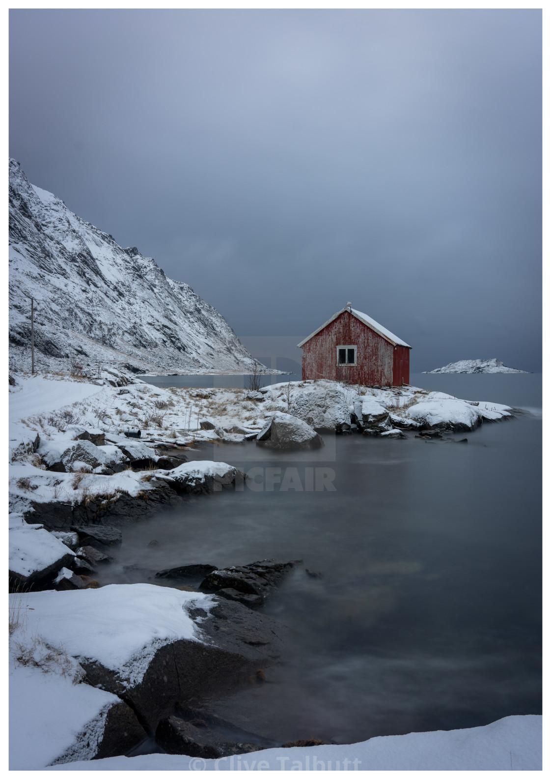 """Barn Lofoten"" stock image"