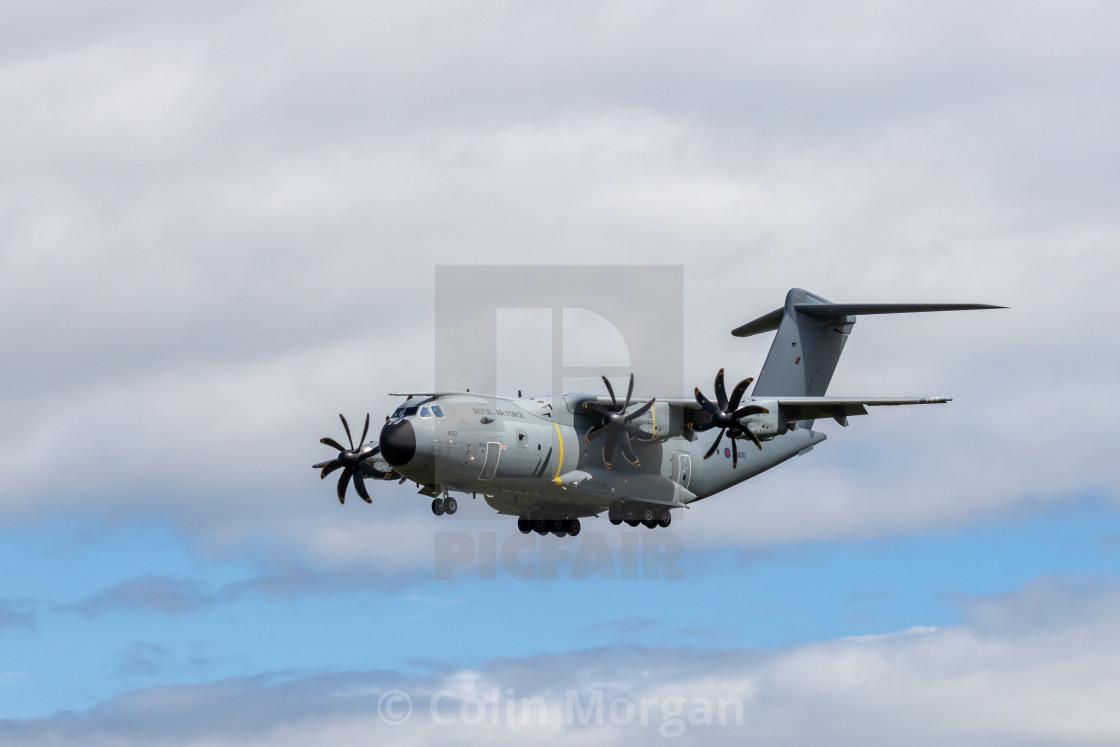 """Airbus A400 RAF Plane-1038"" stock image"