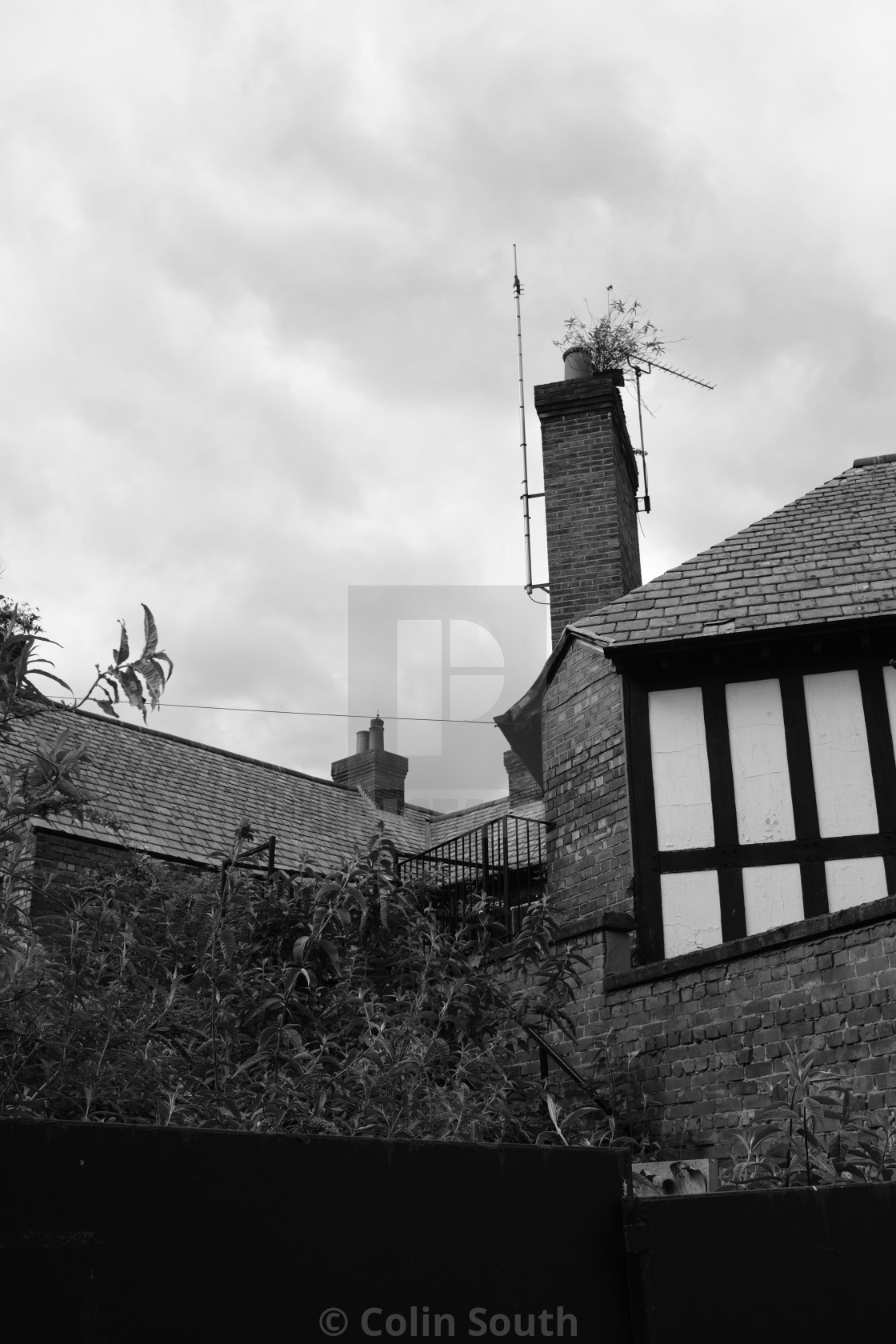 """""""Detail of the sadly abandoned Northgate Arms pub, Chester."""" stock image"""