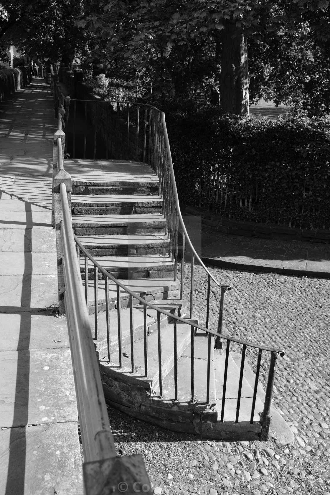 """""""The steps leading up to Chester City Walls"""" stock image"""