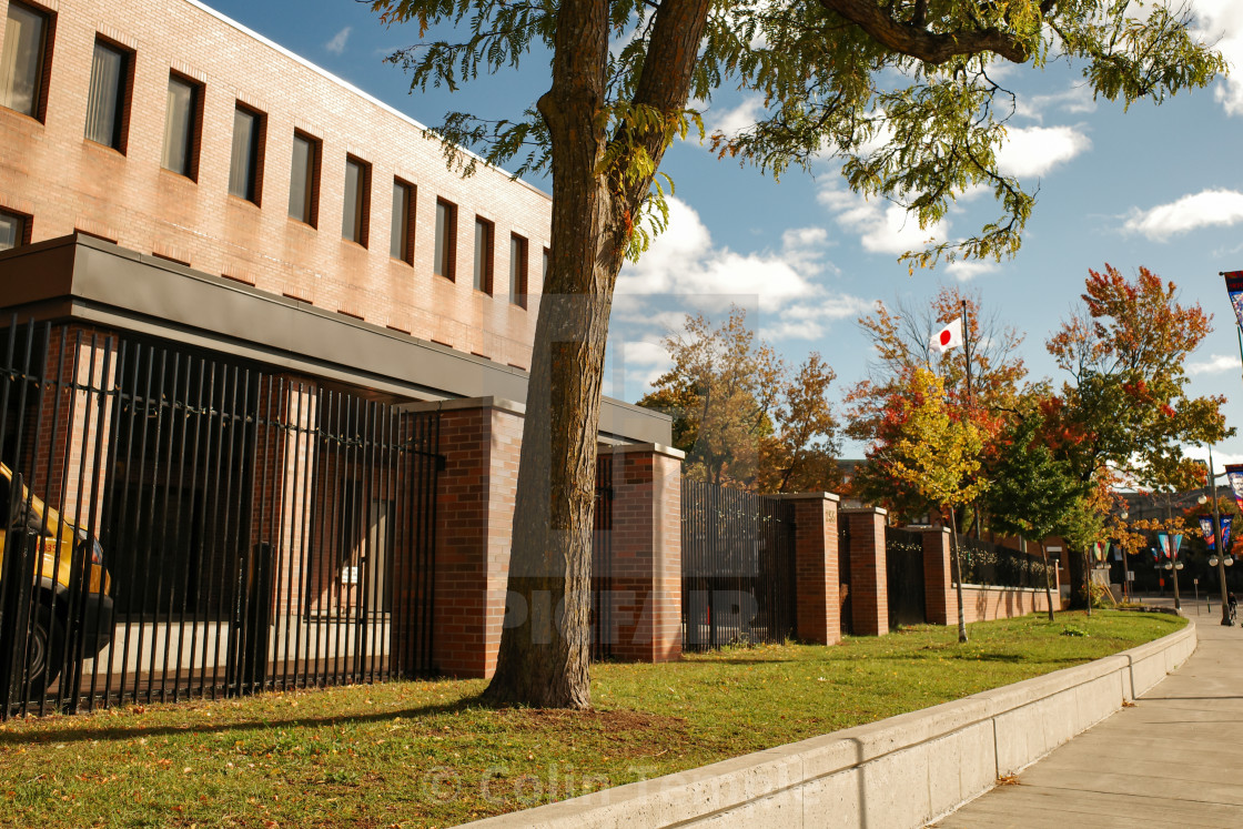 """The Embassy of Japan in Ottawa, Canada"" stock image"