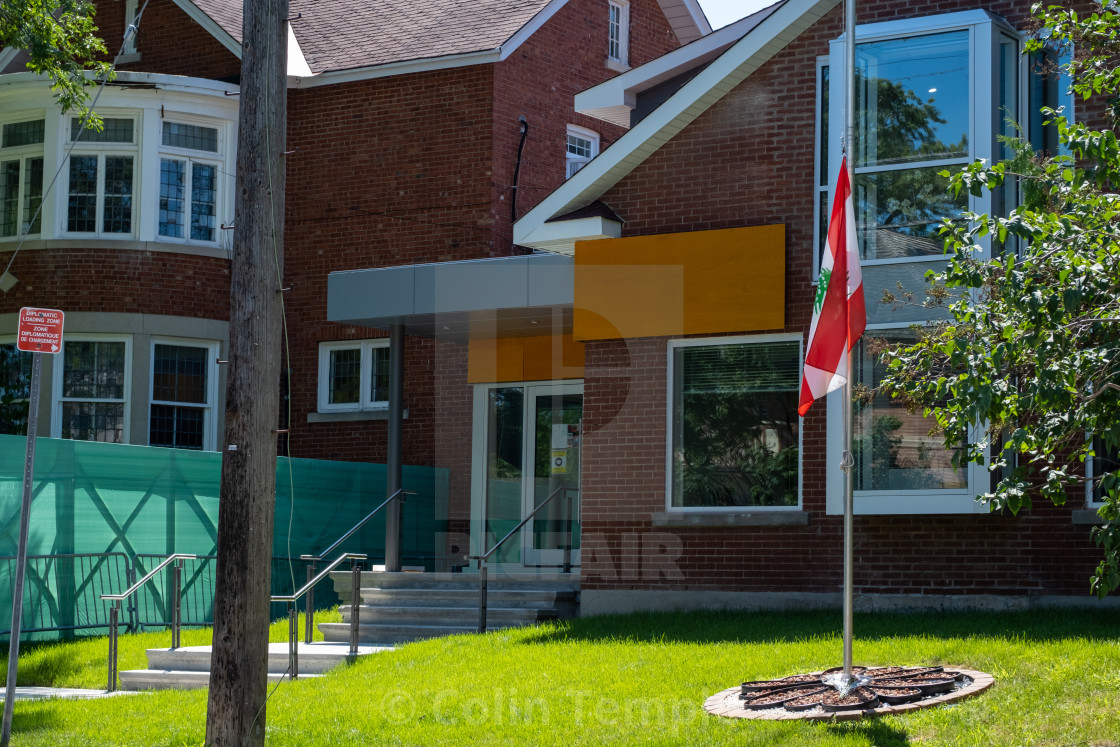 """Embassy of Lebanon in Ottawa, Canada"" stock image"