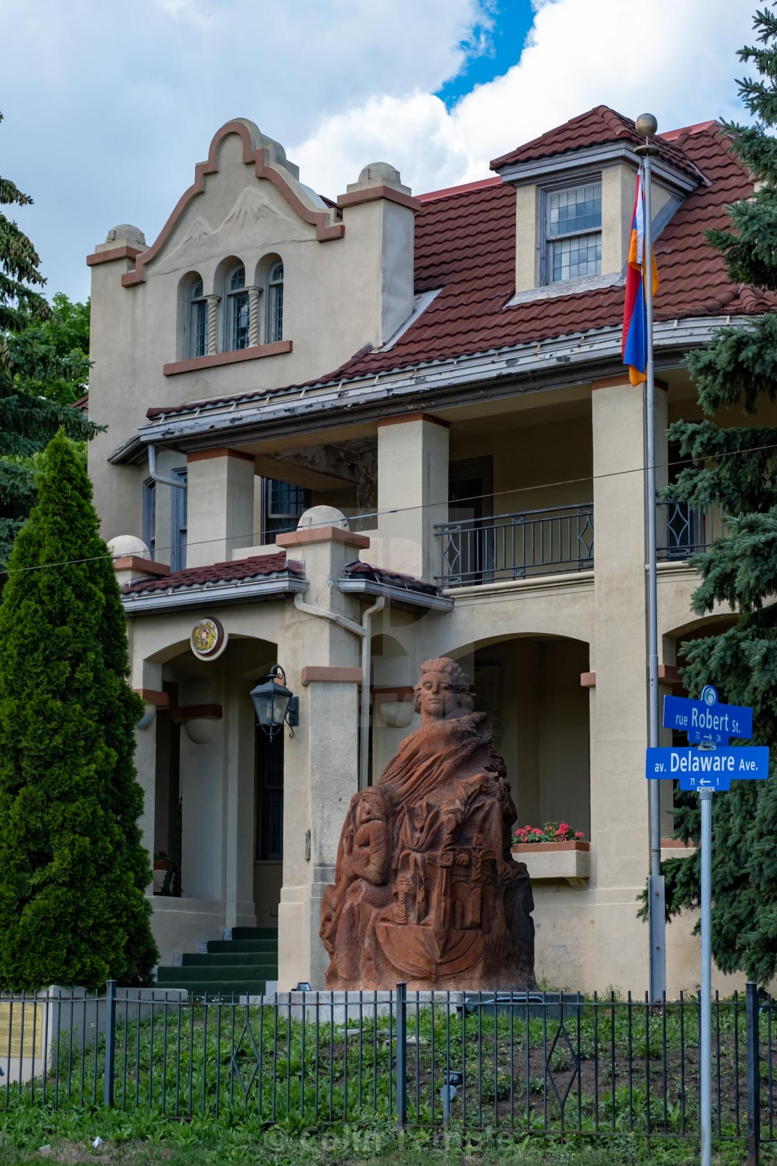 """Embassy of Armenia in Ottawa, Canada"" stock image"