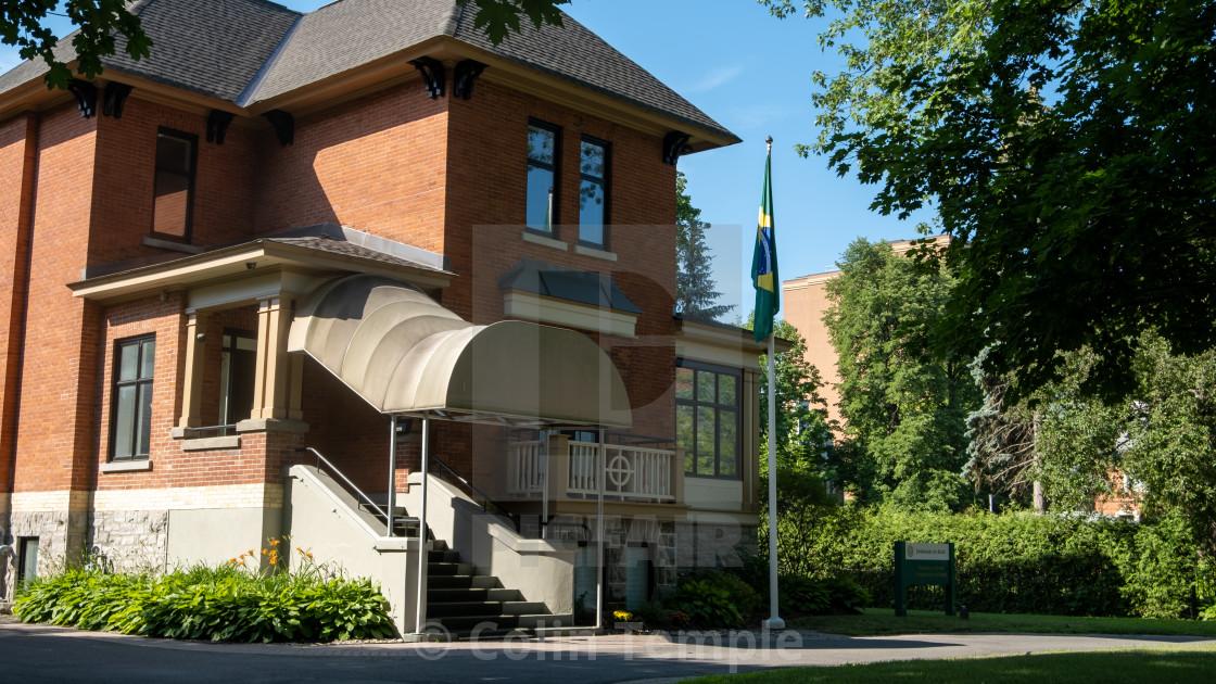 """""""Embassy of Brazil in Canada"""" stock image"""
