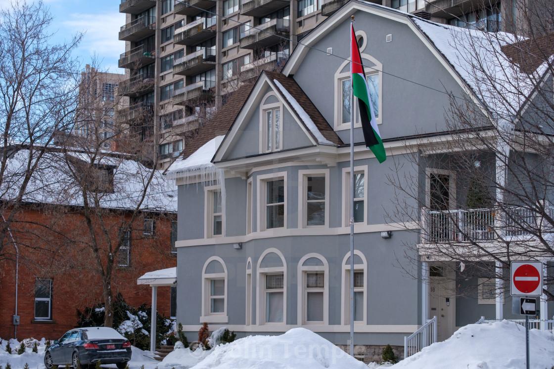 """Palestinian General Delegation in Ottawa, Canada"" stock image"