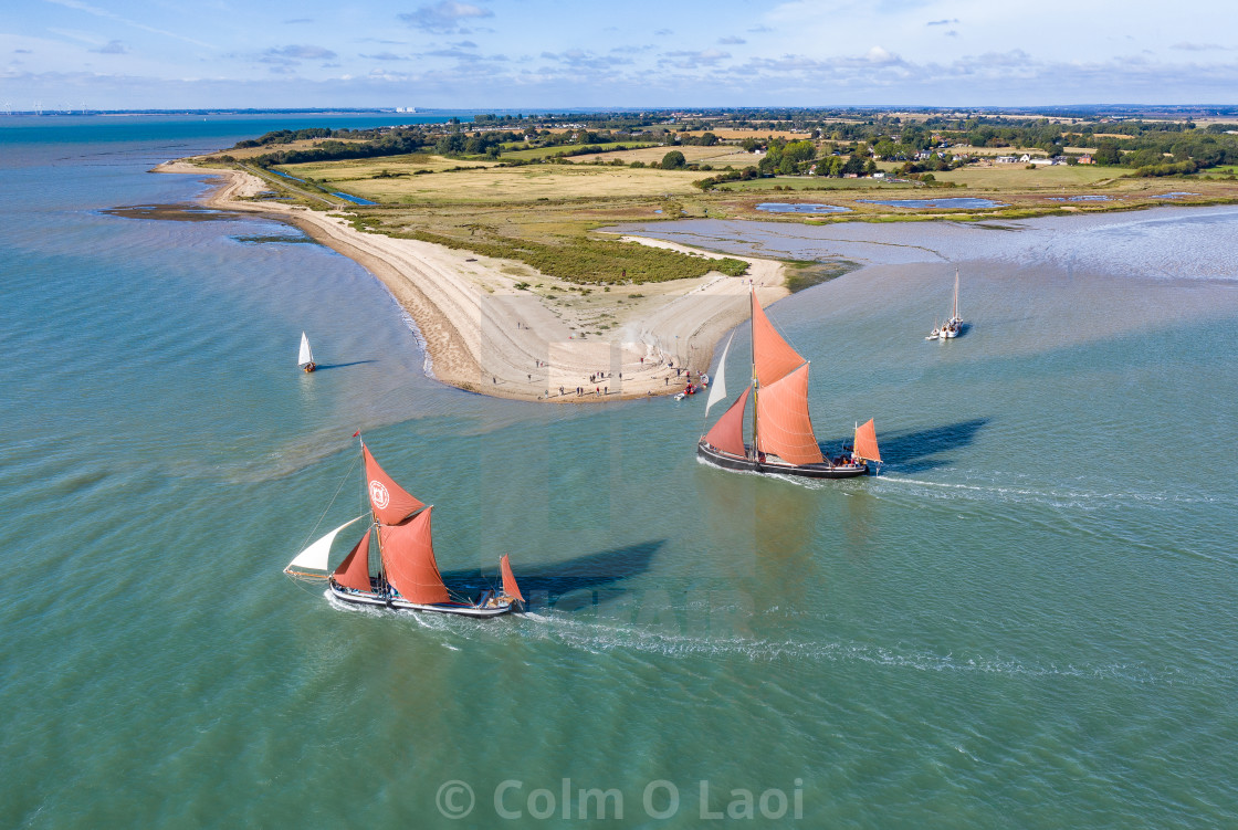 """Thames barge racing"" stock image"