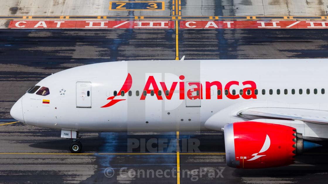 """""""Boeing B787 Avianca N786AV"""" stock image"""