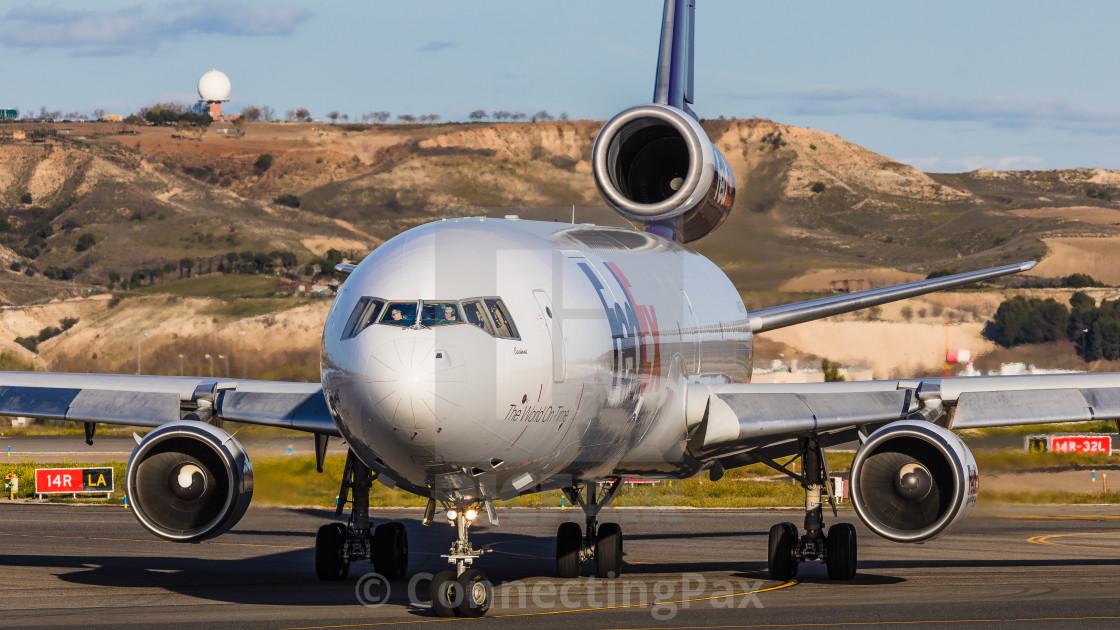 """MD 11 Fedex Corinne N624FE"" stock image"