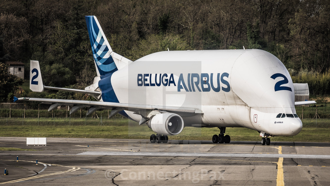 """Airbus Beluga F-GSTB"" stock image"