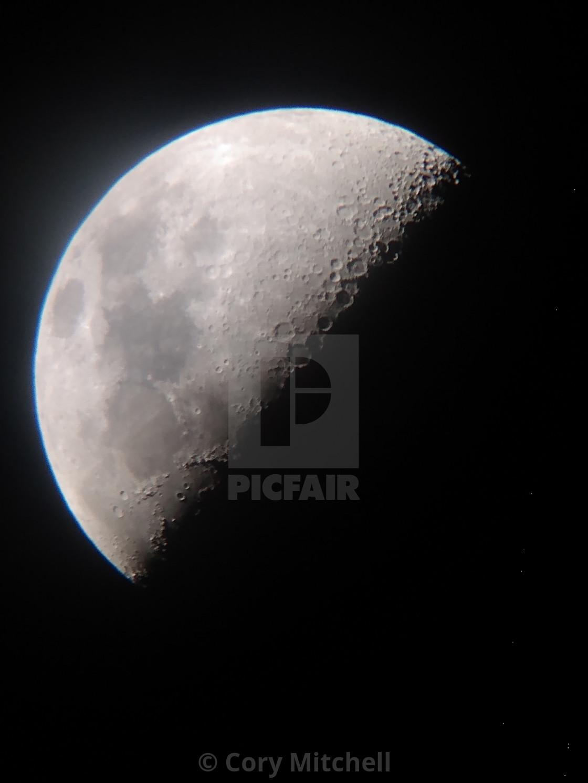 """Quarter Moon"" stock image"