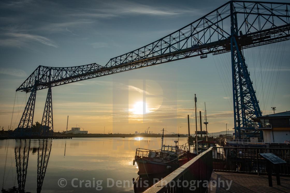 """Transporter Bridge - Middlesbrough"" stock image"