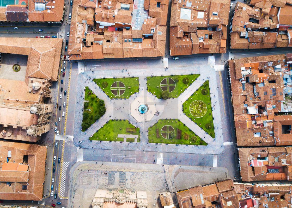 """""""Plaza De Armas sqare in Cusco, Peru"""" stock image"""