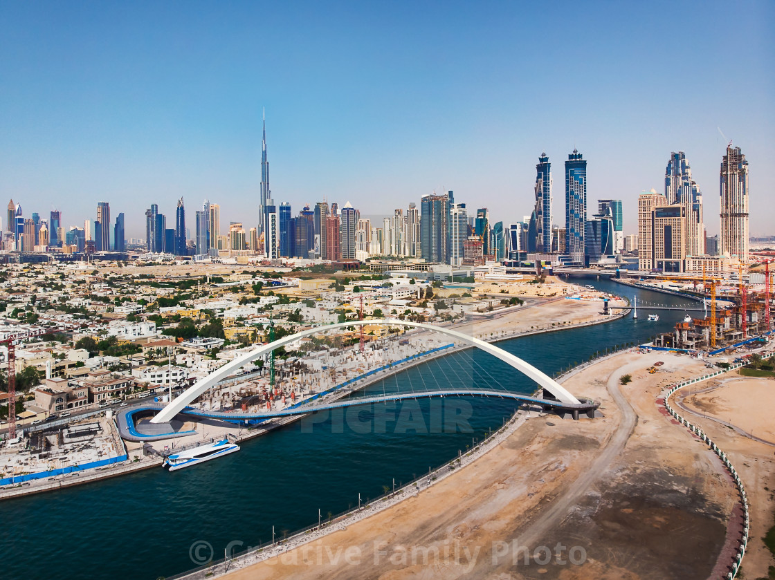"""""""Aerial view of Dubai from the water canal"""" stock image"""