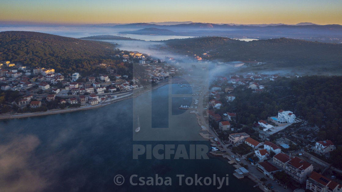 """Tisno dawn"" stock image"