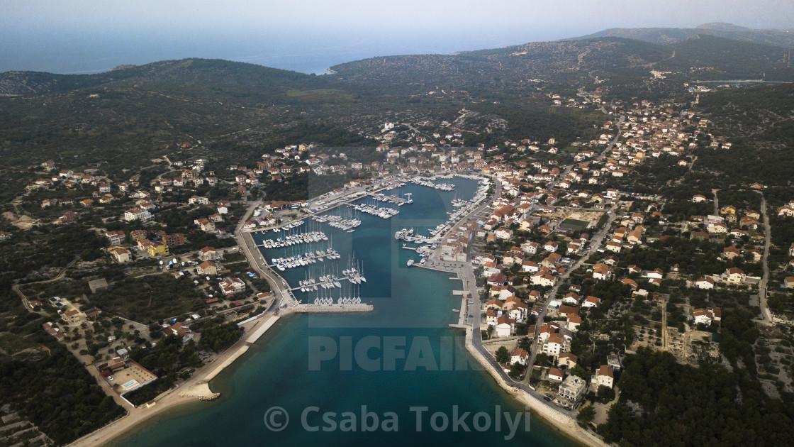 """Jezera (the port)"" stock image"