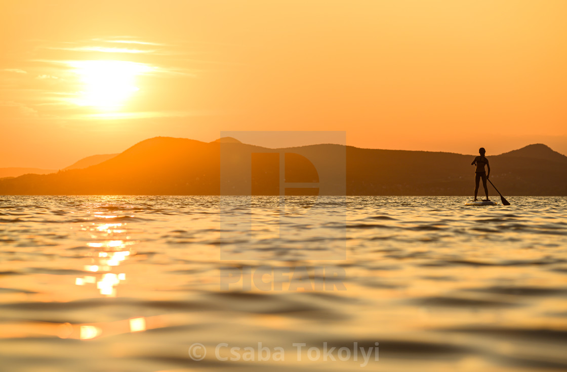 """""""Orange sunset"""" stock image"""