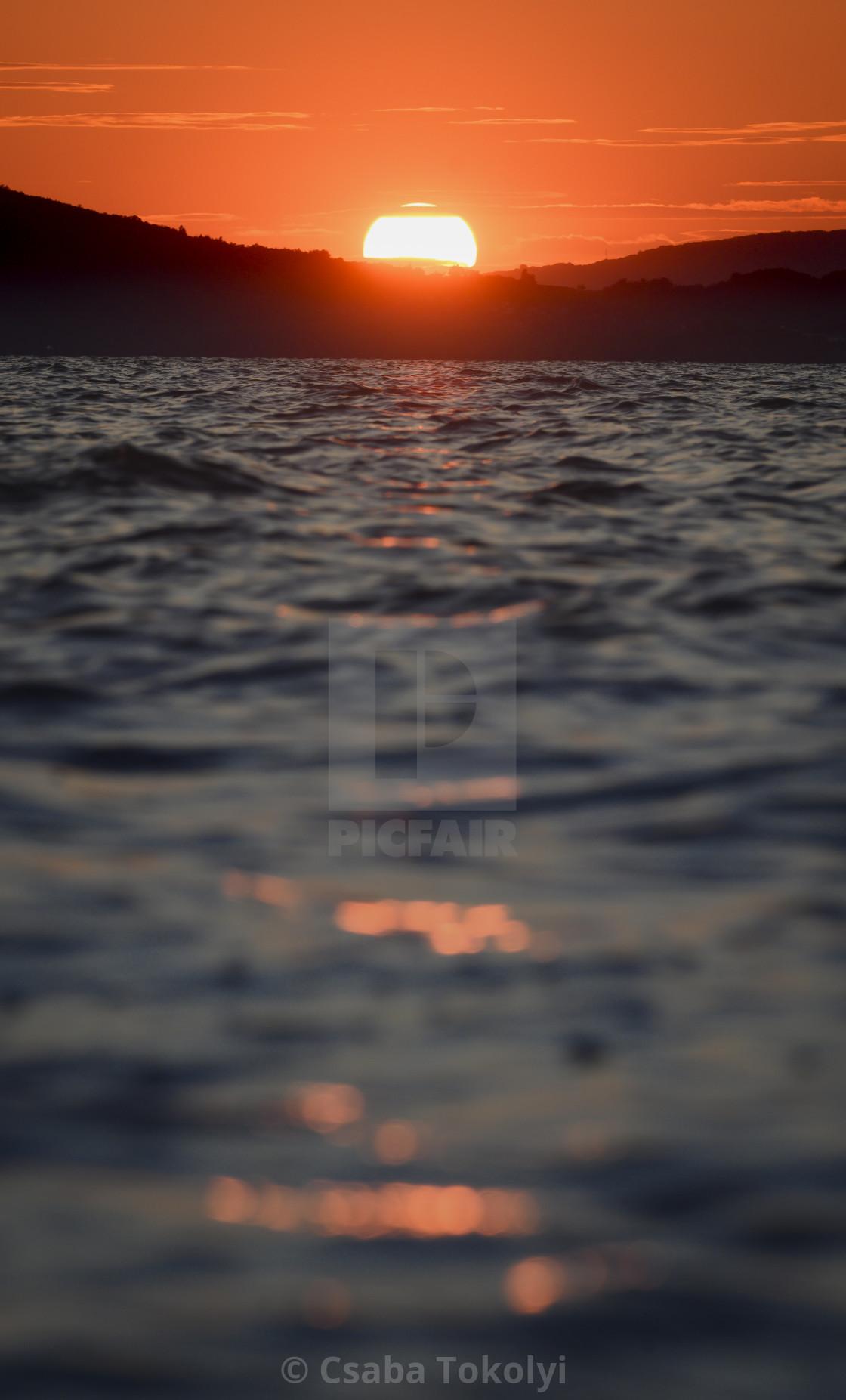 """""""Balaton Sunset"""" stock image"""
