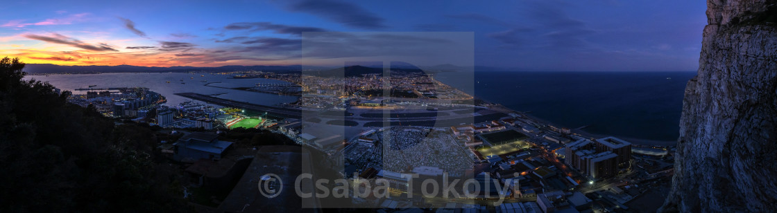 """Night view from The Rock"" stock image"