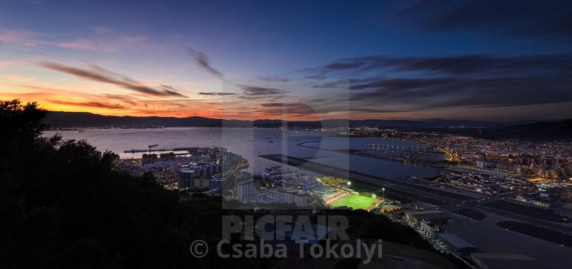 """Gibraltar sunset"" stock image"