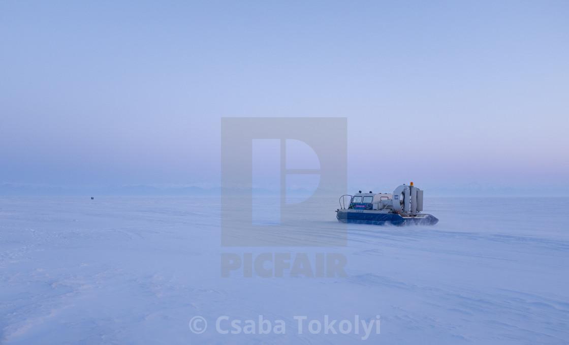 """""""Hovercraft on ice"""" stock image"""