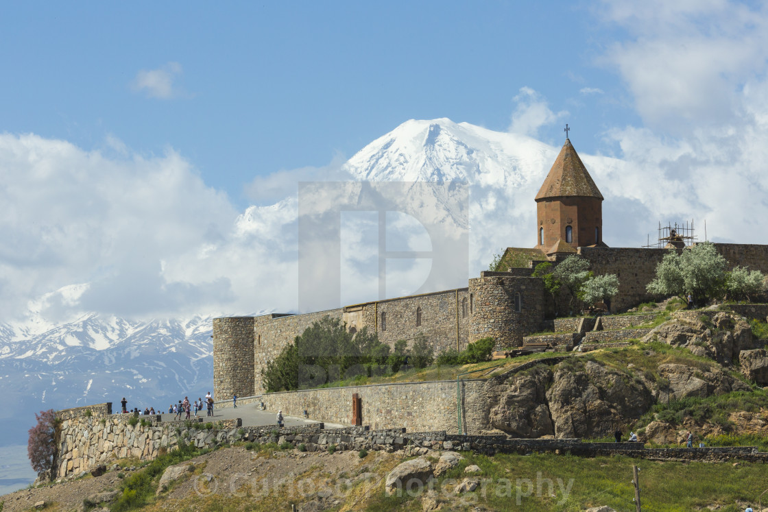 """""""The Khor Virap is an Armenian monastery , located in the Ararat plain in..."""" stock image"""