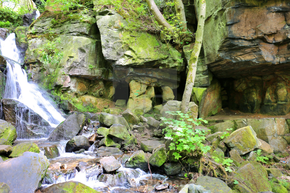 """""""Caves of Lumsdale"""" stock image"""