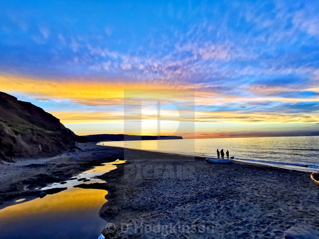 """""""Sunset, Sea and sand"""" stock image"""