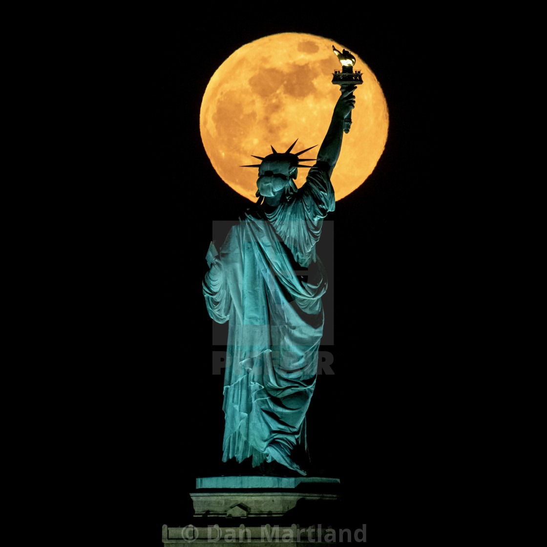 """Super Flower Moon"" stock image"