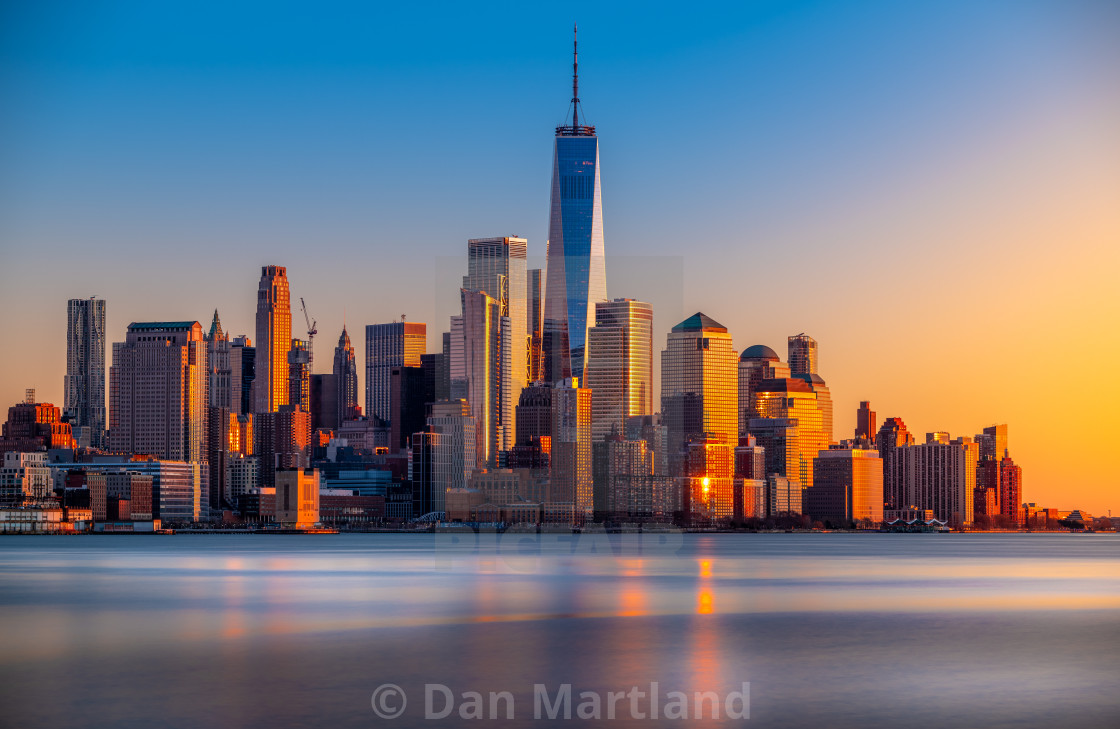 """""""Financial District - Golden Hour"""" stock image"""