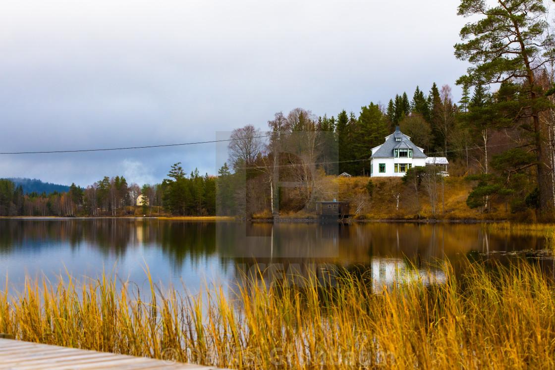 """House at the lake"" stock image"