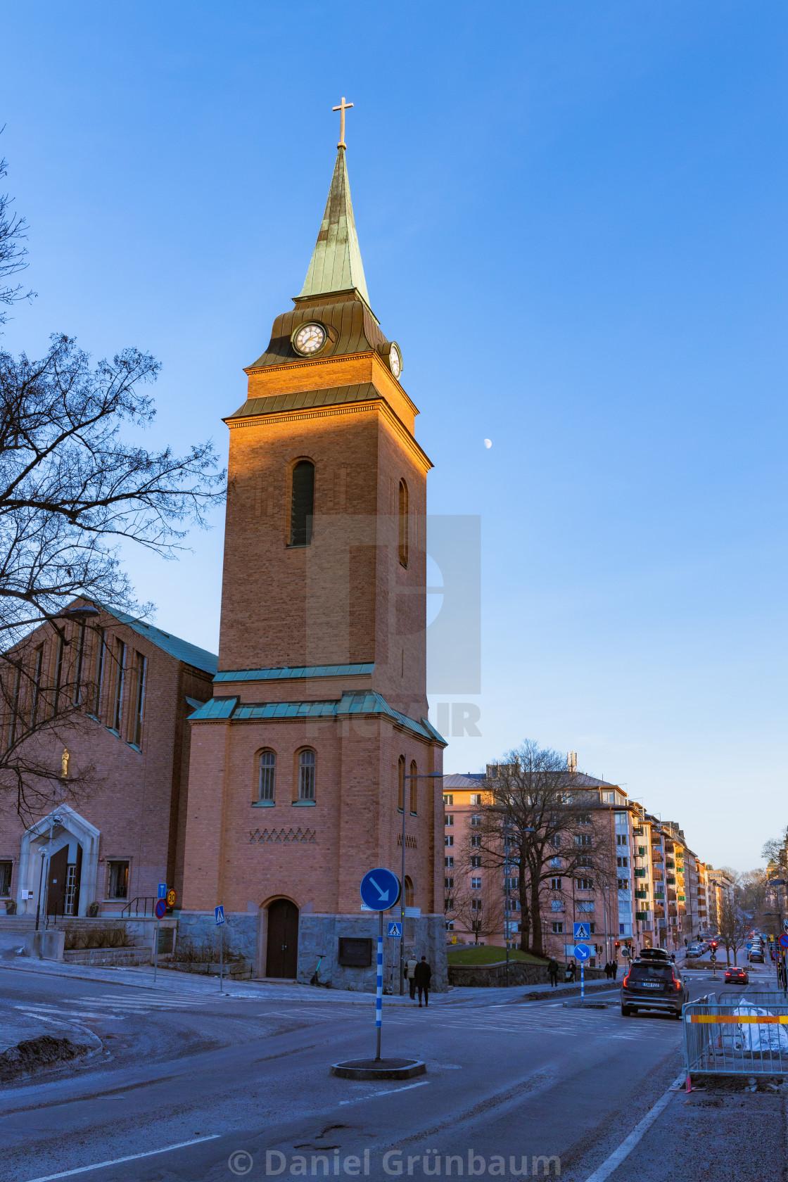 """Church in the sun"" stock image"