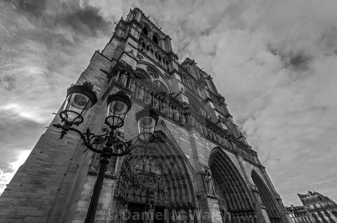 """""""Notre Dame Cathedral in Paris, prior to fire."""" stock image"""