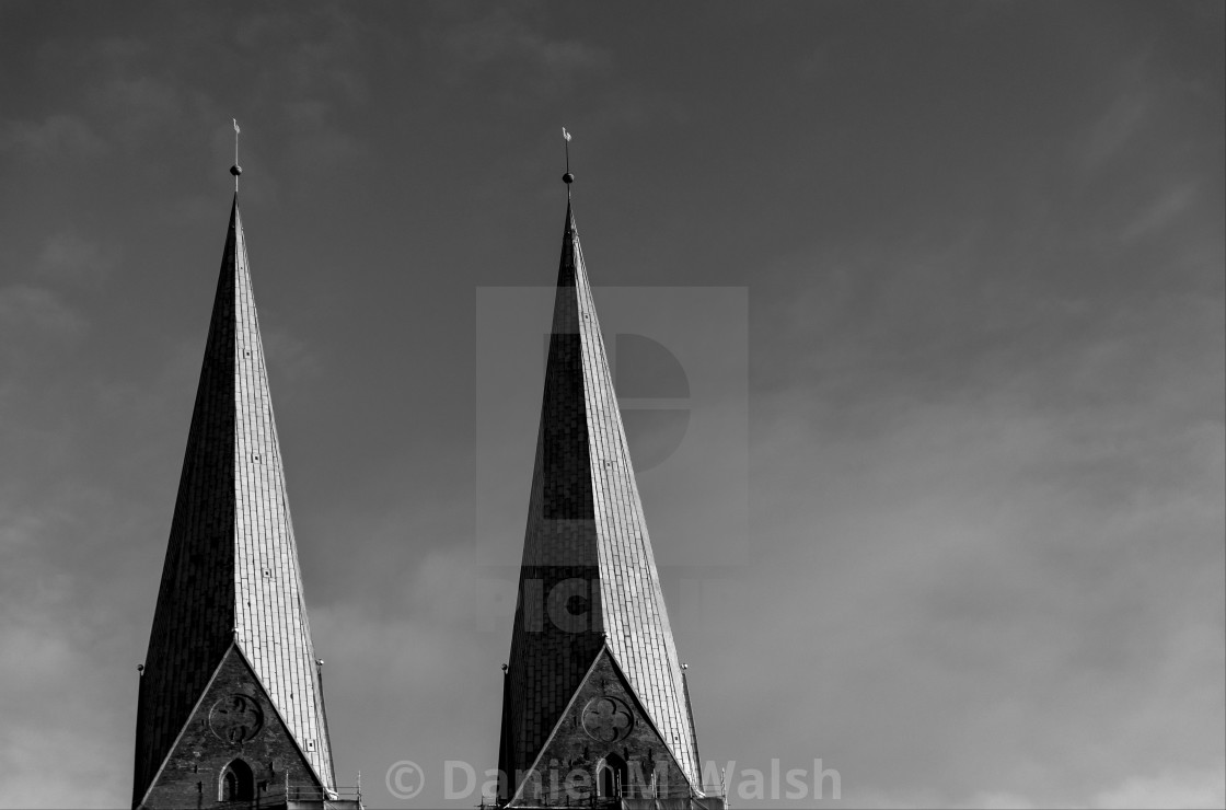 """""""St. Mary's Church. Lubeck, Germany"""" stock image"""