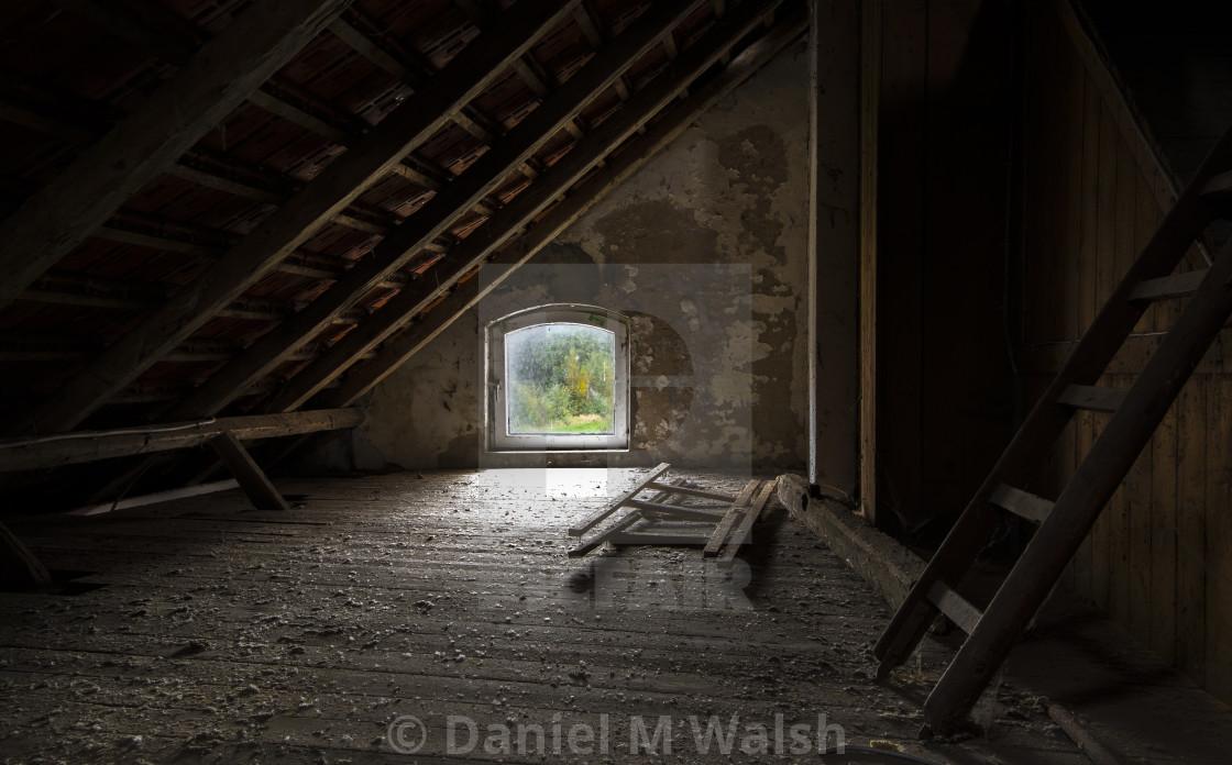 """""""The attic."""" stock image"""