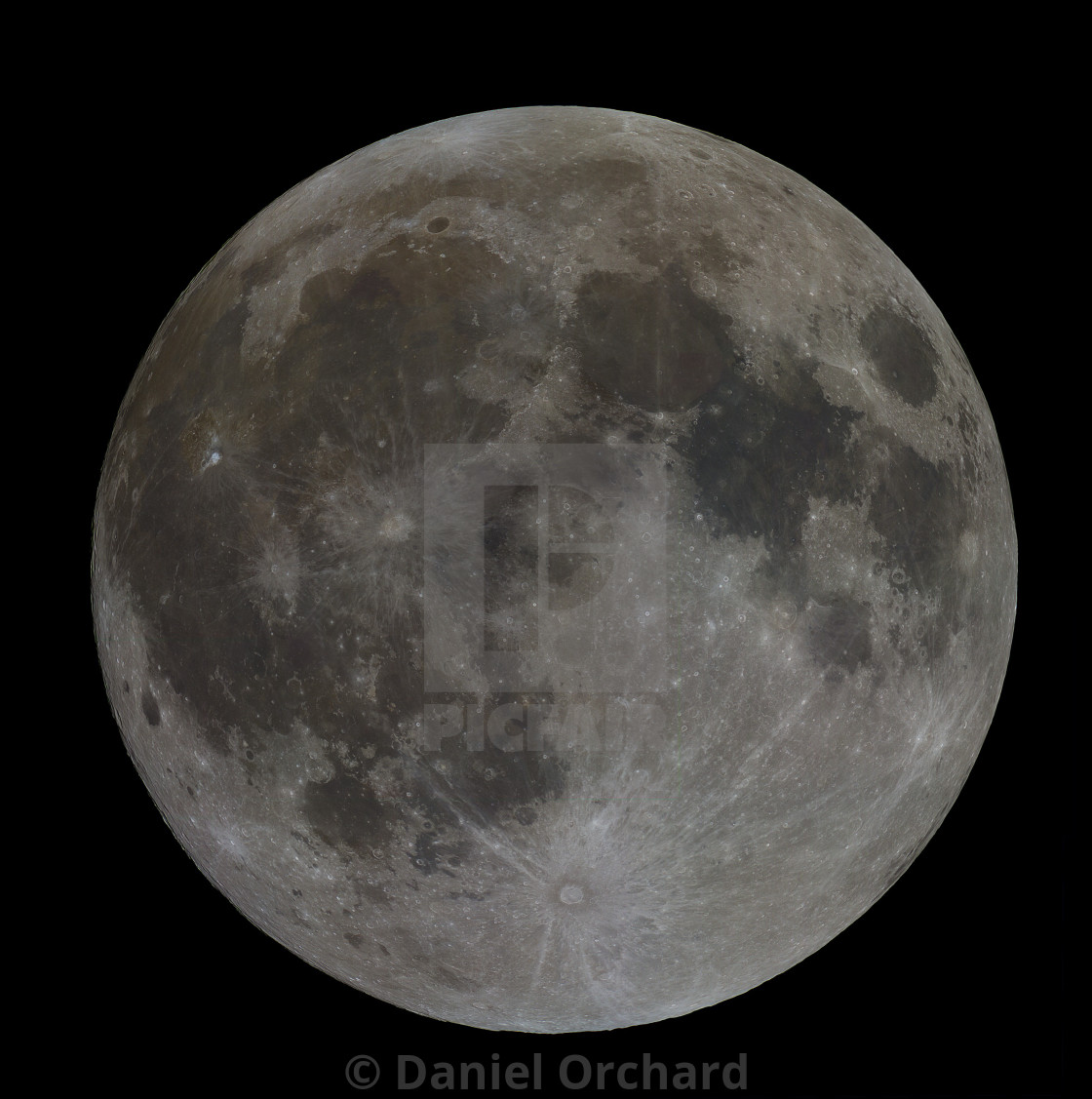 """Full moon in colour"" stock image"