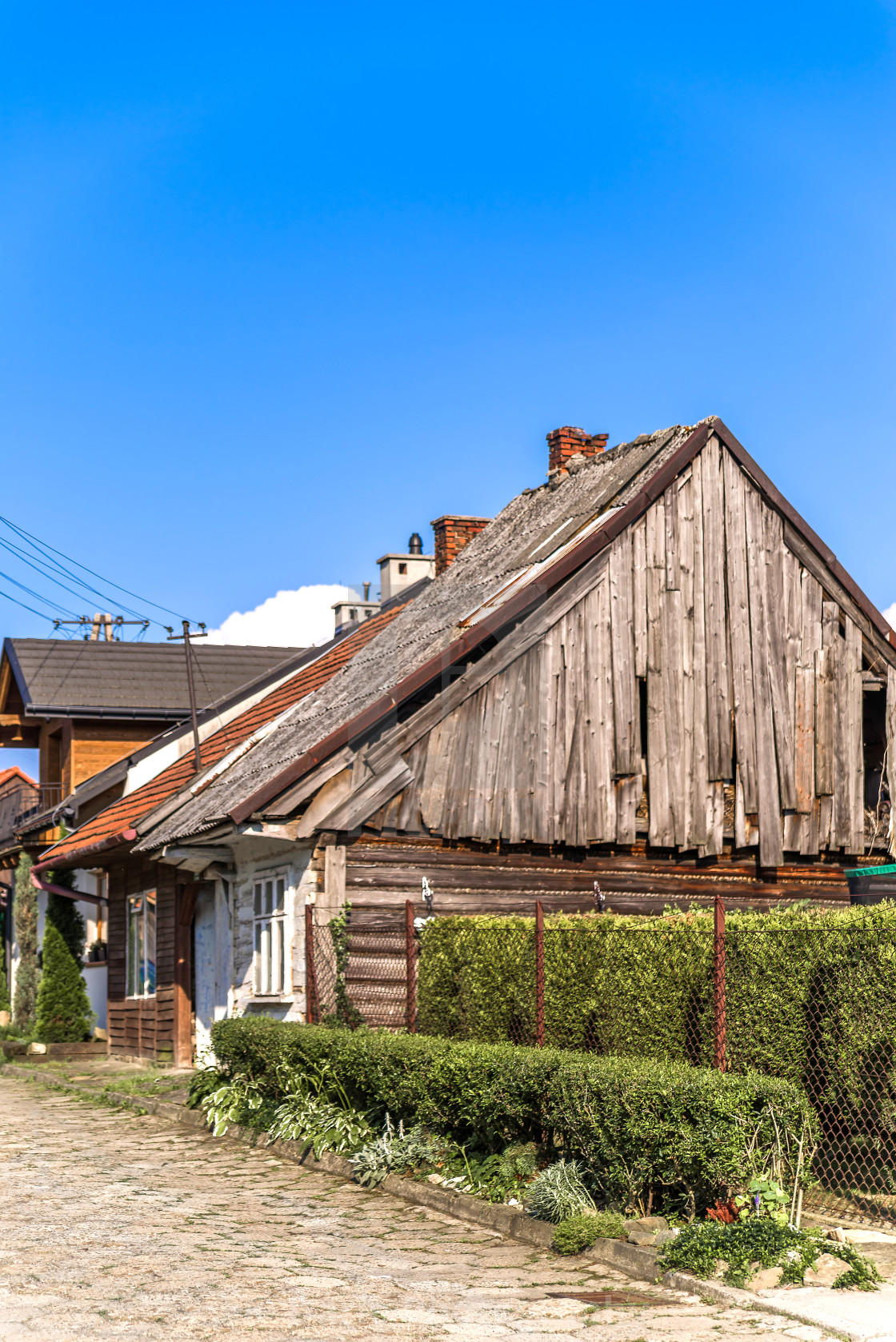 """""""Preserved 19th-century architecture"""" stock image"""