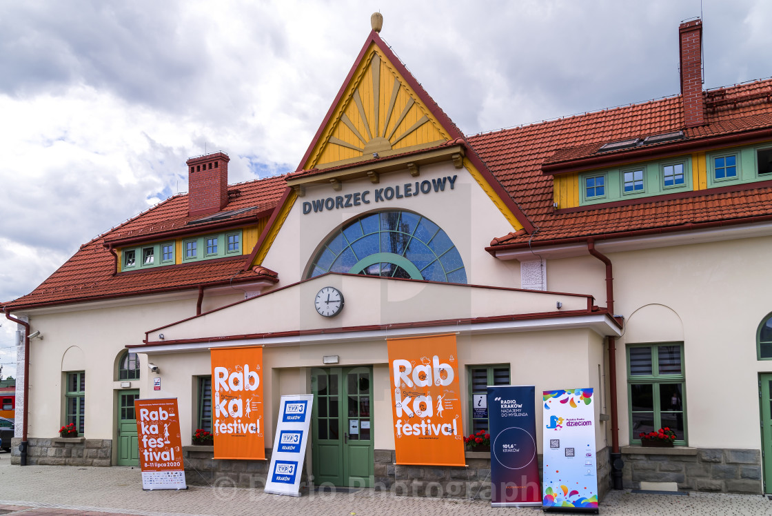 """Rabka Zdroj railway station"" stock image"