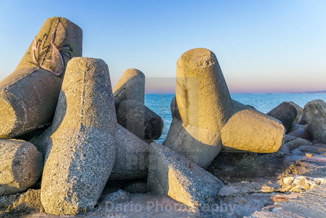 """""""The Black Sea Coast"""" stock image"""