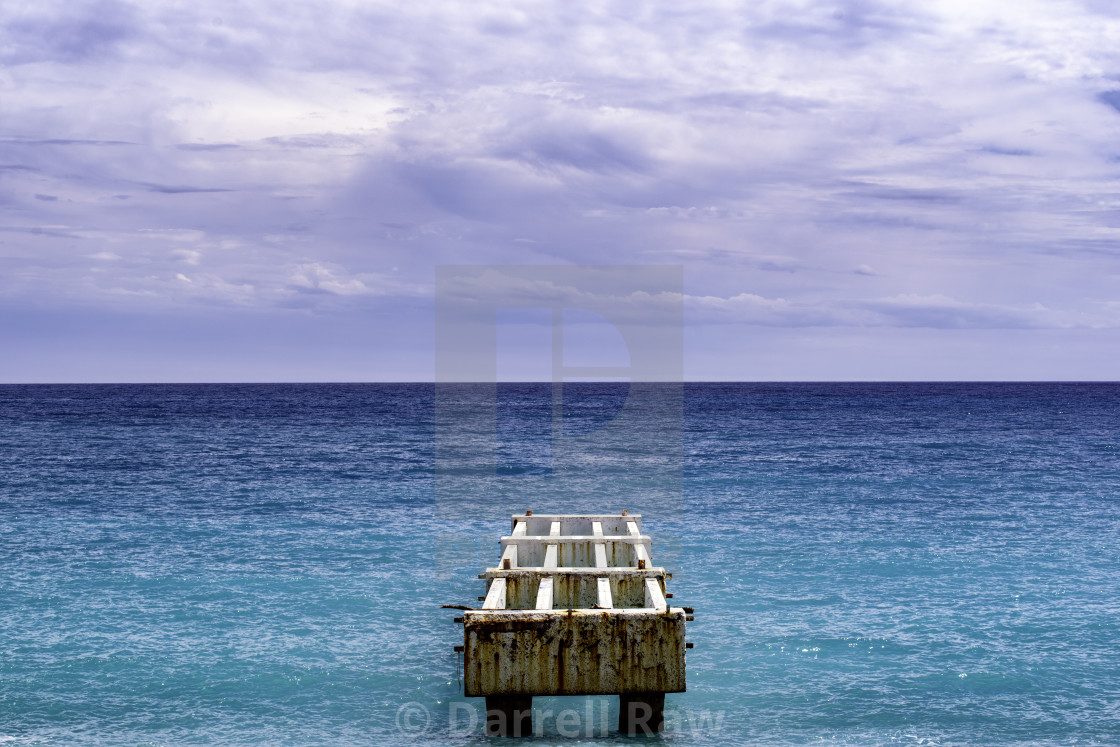 """An old pier looking out to the sea"" stock image"