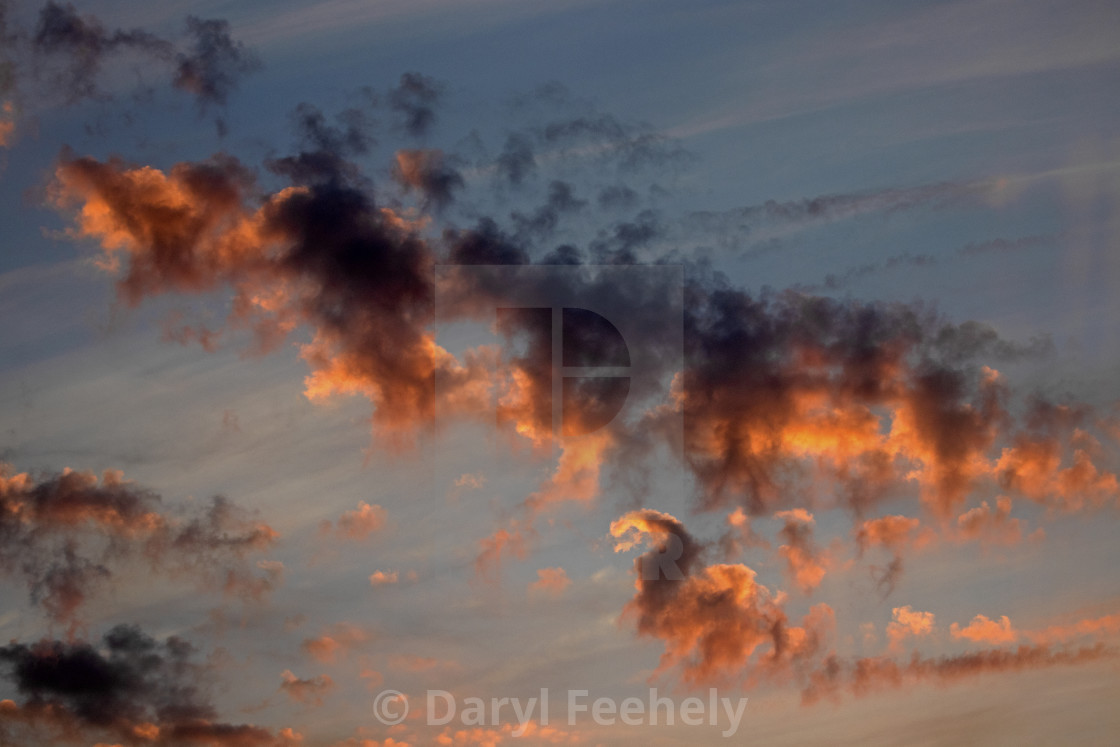 """""""Burning Clouds"""" stock image"""