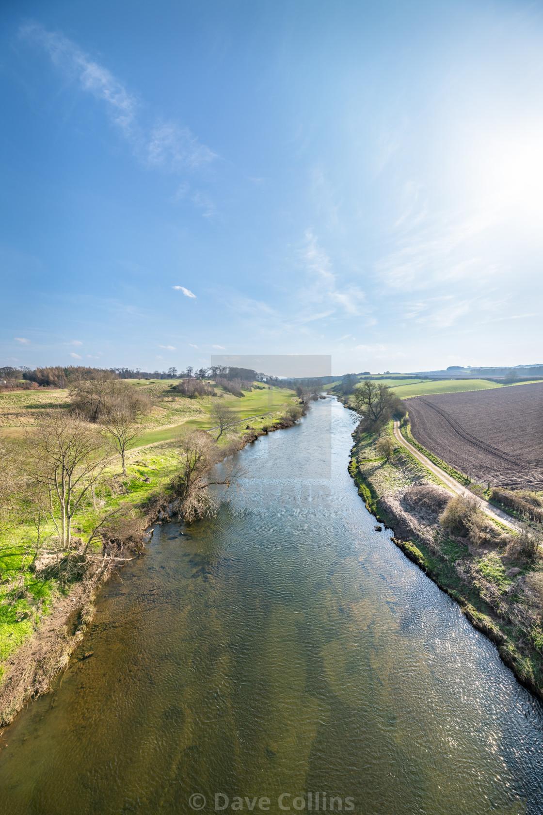 """""""River Teviot, Scottish Borders, UK"""" stock image"""