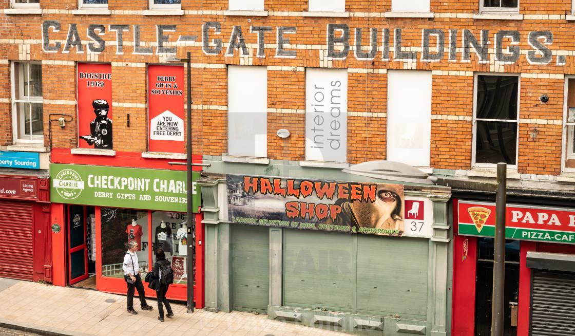 """""""Castle Gate Buildings, Waterloo Street, Derry / Londonderry, Northern Ireland"""" stock image"""