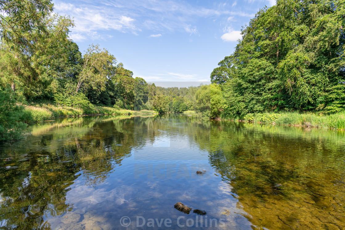 """""""River Teviot, Scottish Borders"""" stock image"""