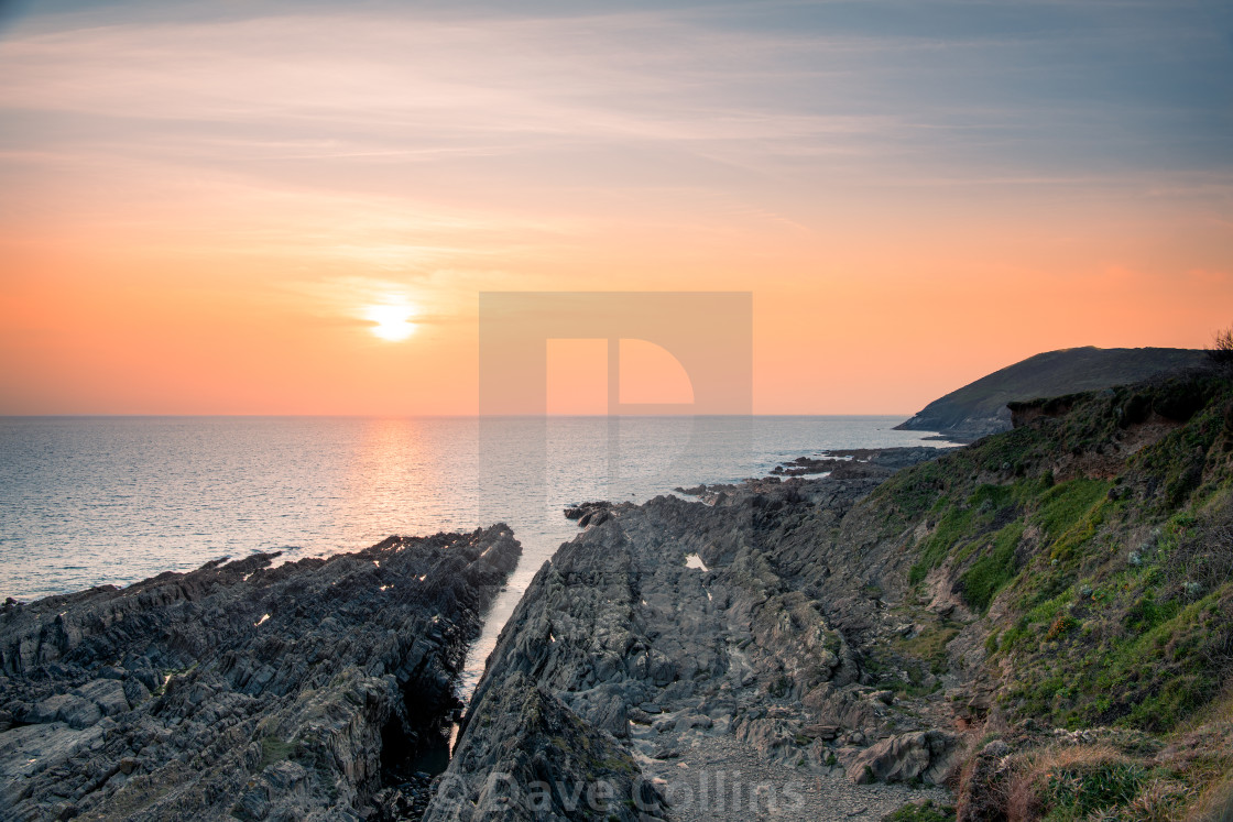"""""""Sunset from Croyde, Devon, England"""" stock image"""